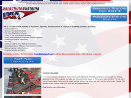 Parachute Systems USA Skydiving and Parachute Equipment
